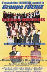 Groupe folklorique Föenix du 7 au 14 novembre 2011 à Fauville-en-Caux (76640)